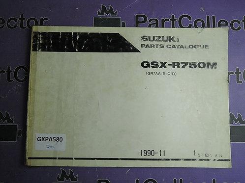 1990-11 SUZUKI GSX-R750M PARTS CATALOGUE 9900B-30083