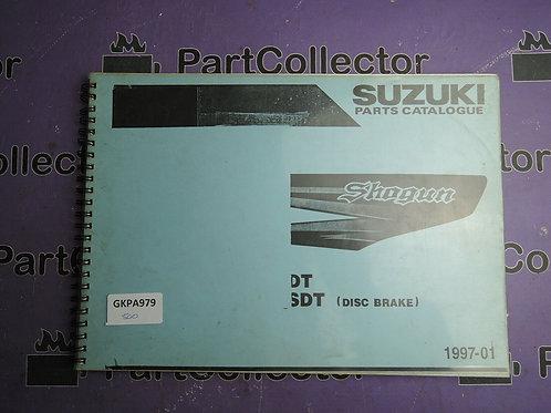 1997-01 SUZUKI SHOGUN DT SDT BOOK  PAPTS CALOGUE 9900B-31CC1L000