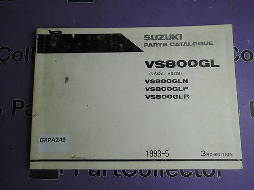 1993-5 SUZUKI VS 800GL PARTS CATALOGUE 9900B-30088-020 GREEK