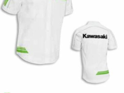 KAWASAKI SHIRT SPII WHT S M SMALL MEDIUM GENUINE 153SPM0082 NOS