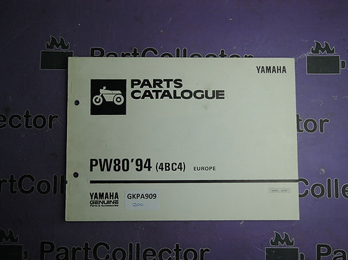 1994 YAMAHA PW 80 BOOK PARTS CATALOGUE 144BC-300E1