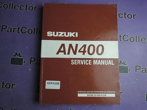 2007 SUZUKI AN400 SERVICE MANUAL 99500-34100-01GREEK