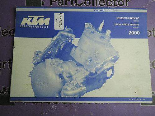 2000 KTM 125 200 SX MXC EXC SPARE PARTS MANUALE Engine 320478