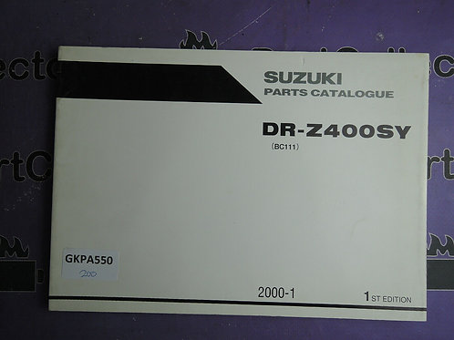 2000-1 SUZUKI DR-Z400SY PARTS CATALOGUE 9900B-30134