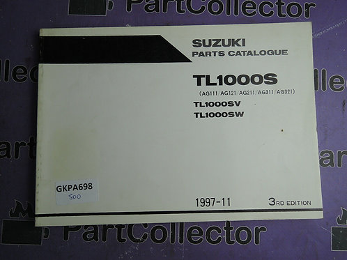 1997-11 SUZUKI TL1000S PARTS CATALOGUE 9900B-28038-040