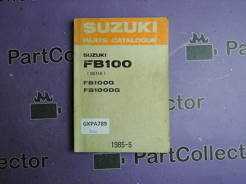 1985-5 SUZUKI FB100 PARTS CATALOGUE 9900B-20039
