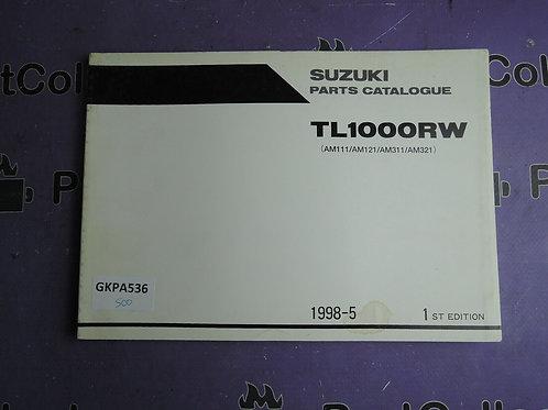 1998-5 SUZUKI  TL1000RW PARTS CATALOGUE 9900B-30123