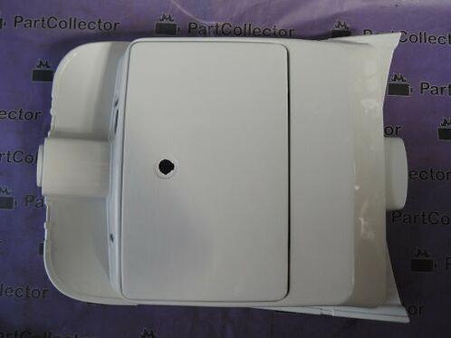 SUZUKI CS125 1983 FRONT LEG SHEILD BOX GOLVE WHITE 92100-01400-14L NOS