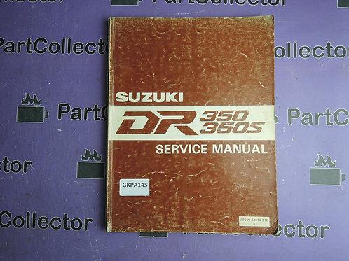 SUZUKI 1990 SERVICE MANUAL DR350-350S 99011-43010-01E