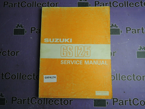 1983 SUZUKI GS125SERVICE MANUAL 99500-31010-01E
