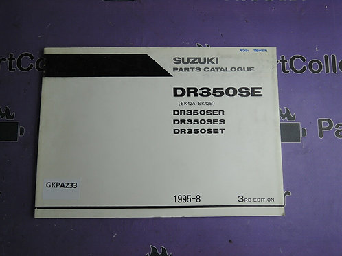 1995-1998 SUZUKI DR 350SER-SES-SET PARTS CATALOGUE 9900B-30093-020