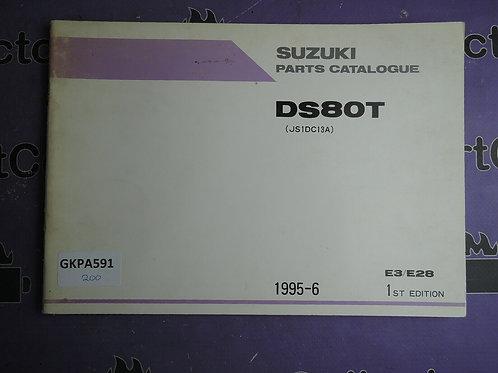 1995-6 SUZUKI  DS80T PARTS CATALOGUE 9900B-16025