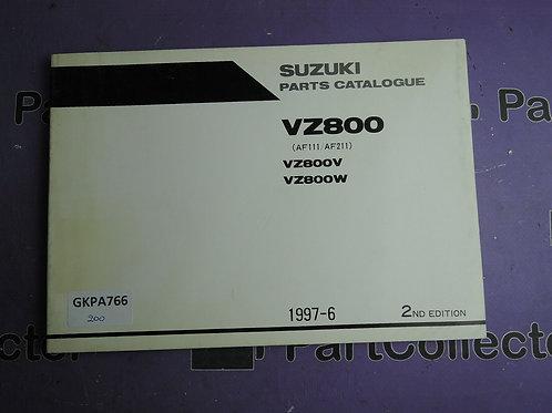 1997-6 SUZUKI VZ800 PARTS CATALOGUE 9900B-30112-010