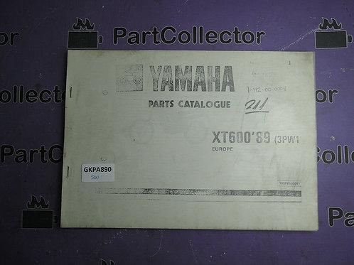 1989 YAMAHA XT 600 BOOK PARTS CATALOGUE 193PW-300E1