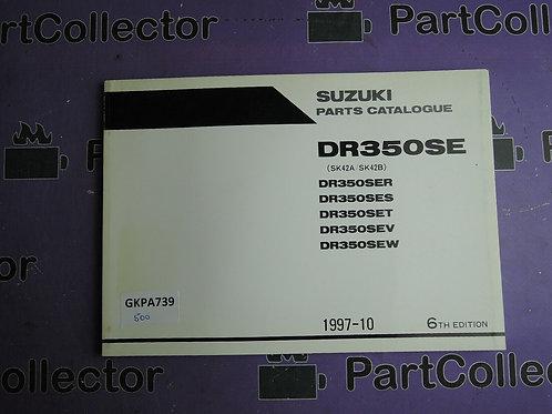 1997-10 SUZUKI DR350SE PARTS CATALOGUE 9900B-30093-041