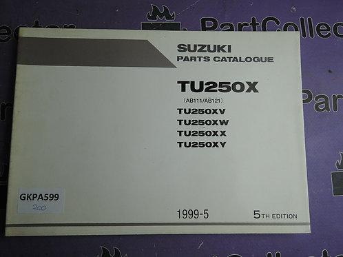 1999-5 SUZUKI TU250X PARTS CATALOGUE 9900B-28037-030