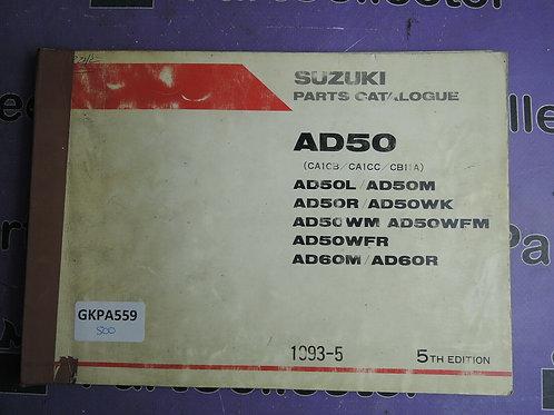 1993-5 SUZUKI AD50 PARTS CATALOGUE 9900B-10030-012