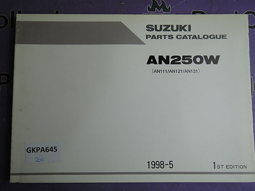 1998-5 SUZUKI  AN250W PARTS CATALOGUE 9900B-28038
