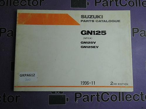 1996-11 SUZUKI GN125 PARTS CATALOGUE 9900B-20064-001