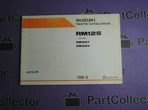 1996-8 SUZUKI RM 125 PARTS CATALOGUE 9900B-20062-010