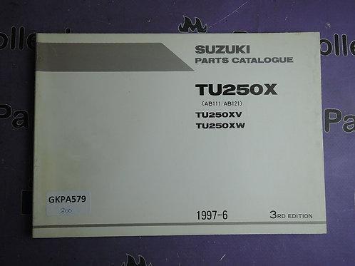 1997-6 SUZUKI TU250X PARTS CATALOGUE 9900B-28037-010