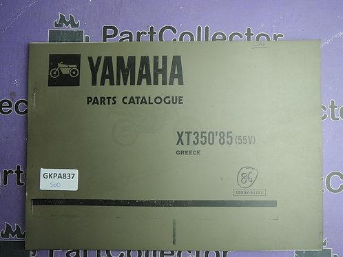 1985 YAMAHA XT350 BOOK PARTS CATALOGUE 1555V-511E1