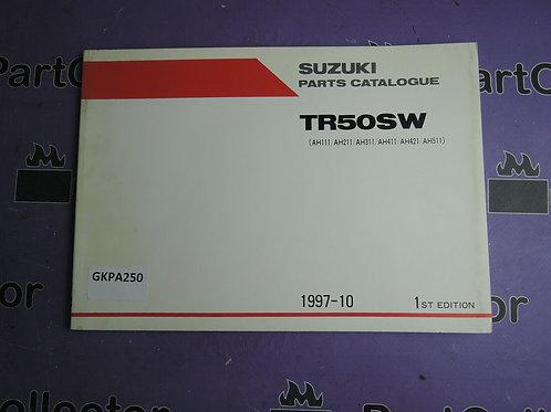 1997-10 SUZUKI TR 50SW PARTS CATALOGUE 9900B-10034 GREEK