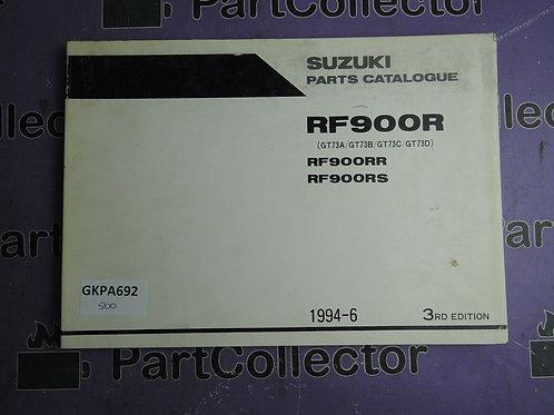 1884-6 SUZUKI RF900R PARTS CATALOGUE 9900B-30095-010