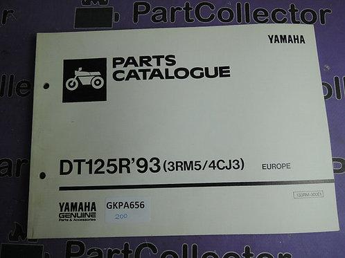 1993 YAMAHA DT125R PARTS CATALOGUE 133RM-300E1