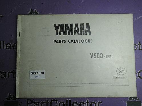 1980 YAMAHA V 50D BOOK PARTS CATALOGUE 1319K-400E1
