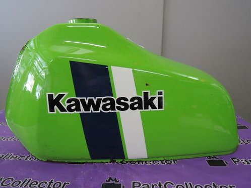 KAWASAKI GENUINE KE125 A7 1980 FUEL GAS TANK LIME GREEN 5100-1506-07F NOS