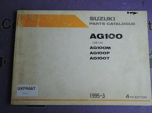 1995-3 SUZUKI  AG100 PARTS CATALOGUE 9900B-20050-020