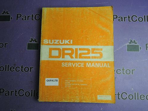 1984 SUZUKI DR125 SERVICE MANUAL 99500-41002-01E