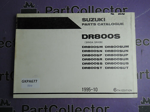 1995-10 SUZUKI DR800S PARTS CATALOGUE 9900B-30084-050