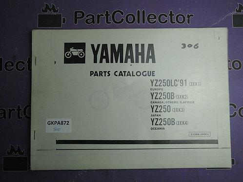 1991 YAMAHA YZ 250LC BOOK PARTS CATALOGUE 113XK-100E1