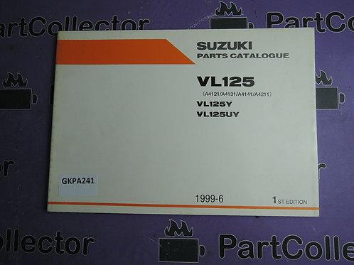1999-6 SUZUKI VL 125 PARTS CATALOGUE 9900B-20074
