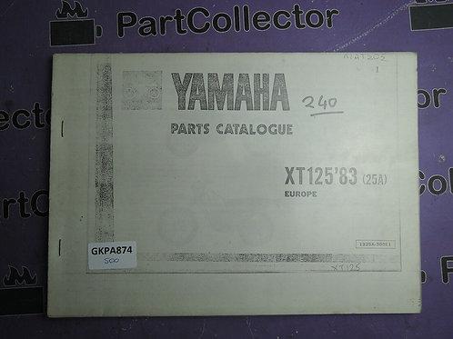 1983 YAMAHA XT 125 BOOK PARTS CATALOGUE 1325A-300E1