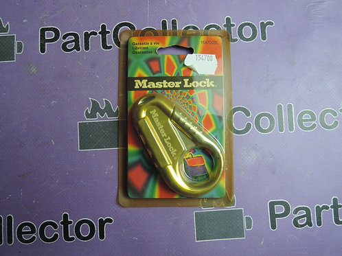 1547DCOL MASTER LOCK Set Your Own Combination Backpack Lock Black USA CARABINER