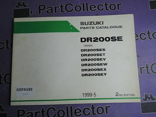 1999-5 SUZUKI DR200SE PARTS CATALOGUE 9900B-26012-010