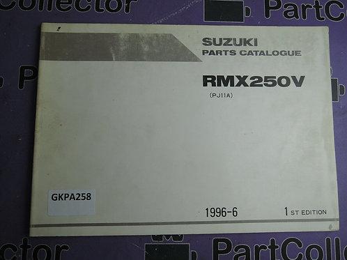 1996-6 SUZUKI RMX 250V PARTS CATALOGUE 9900B-28036