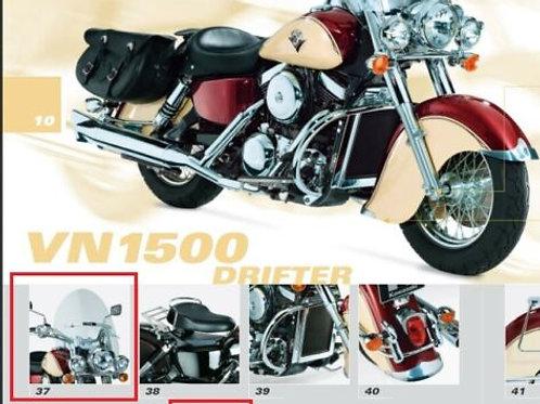KAWASAKI GENUINE VULCAN 1500 DRIFTER LIGHT BAR LIGHTBAR CHROME 99990-115C NOS