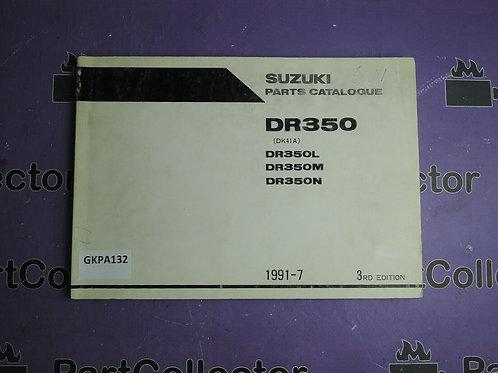 SUZUKI 1197 PARTS CATALOGUE DR350L-350M-DR350N 9900B-30077-020