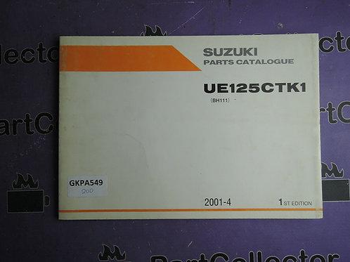2001-4 SUZUKI UE125CTK1 PARTS CATALOGUE 9900B-20078