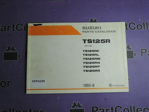 1993-8 SUZUKI TS 125R PARTS CATALOGUE 9900B-20044-050