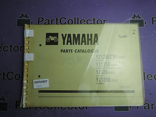 1991 YAMAHA YZ125LC BOOK PARTS CATALOGUE 113XJ-100E1