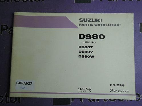 1997-6 SUZUKI DS80 PARTS CATALOGUE 9900B-16025-010