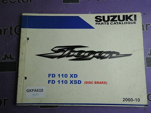 2000-10 SUZUKI FD 110 PARTS CATALOGUE 9900B-23F10L000