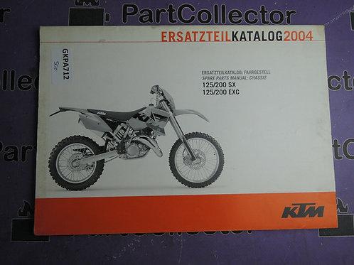 2004 KTM 125 200 SX-EXC SPARE PARTS MANUAL 3208118