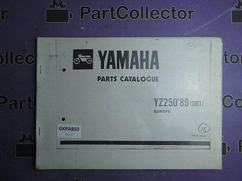 1989 YAMAHA YZ250 BOOK PARTS CATALOGUE 193JE-300E1