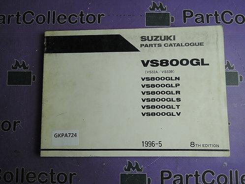 1996-5 SUZUKI VS800GL PARTS CATALOGUE 9900B-30088-050
